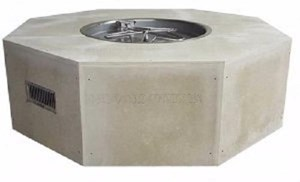 HPC Ready-to-Finish Gas Outdoor Octagon Fire Feature Remote Electronic Ignition - U45O/25SSCEK  120 VAC