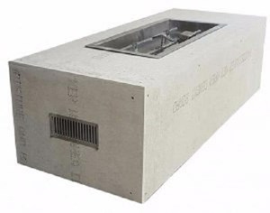 HPC Ready-to-Finish Gas Outdoor Fire Feature, Trough Push Button Flame Sensing -U60X24/48FPPKCEK