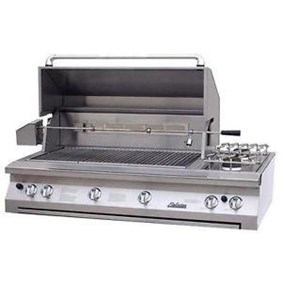 "Solaire 56"" InfraVection Built-in Grill 1 IR Burner Rotisserie Dble Side Brnr SOL-AGBQ-56VV"