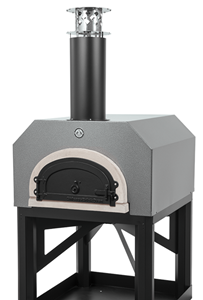 Chicago Brick Oven CBO-750 With Stand Outdoor Wood Fired Pizza Oven  -  Silver or Copper VEIN Color
