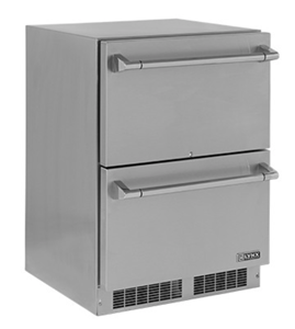 "LYNX PROFESSIONAL 24"" Double Drawer Outdoor Refrigerator LM24DWR"