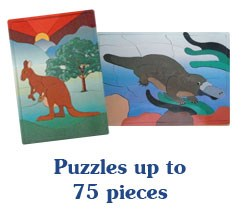Puzzles up to 75 pieces