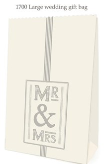 Wedding Gift Bag large - Mr & Mrs