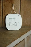 Porcelain square hanging plaque