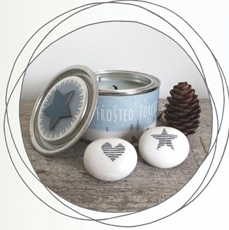 Tin Candles - Wood themed