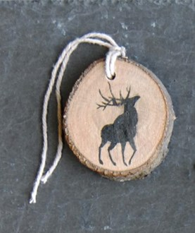 Round tags woodland deer