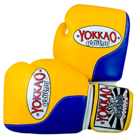 "Yokkao ""Prime"" Muay Thai Glove - Yellow/Blue"