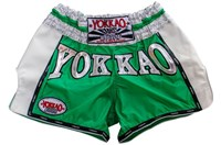 "Yokkao ""Carbon"" Muay Thai Shorts - Neon Emerald Green"