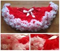 Red Pink Trim Colour Trim Girls Baby Tutu Petti Skirt Dance Wear Princess Satin Chiffon Skirt - Copy - Copy - Copy