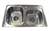 Double Stainless Sink 4 Catering Trailer Van or Veg Wash ADD-7040