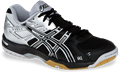 CLOSEOUT, ONLY SIZE 9 - Asics Gel Rocket 6 Squash / Volleyball Women's Shoes, Black / Silver