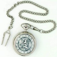 Mechanical Rampant Lion Pocket Watch