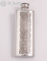 Pewter Small Celtic Flask
