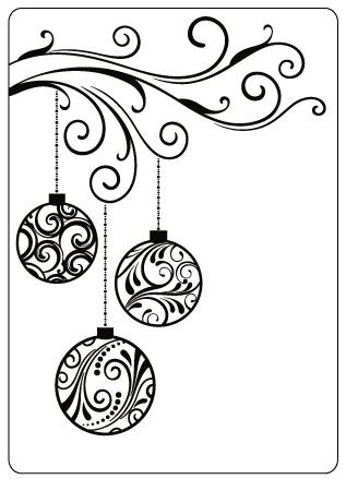"CRAFTS-TOO Embossing Folder Swirl Baubles 4.25""x5.5"" FREE SHIPPING ..."