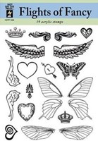 Flights of Fancy Clear Stamps Great for Scrapbooking & Cardmaking