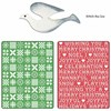 Sizzix Textured Impressions Embossing Folders 2PK - Holiday Sweater and Cross Stitch with Bonus Dove Die 658195 FREE SHIPPING