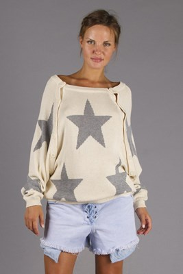 """""""The Shine"""" Knitted Nursing Sweater - Silver  Currently OUT OF STOCK"""