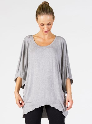"""Harmony Tee"" maternity t-shirt - HEATHER GREY"