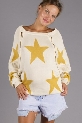 """The Shine"" Knitted Nursing Sweater - Gold   Currently OUT OF STOCK"