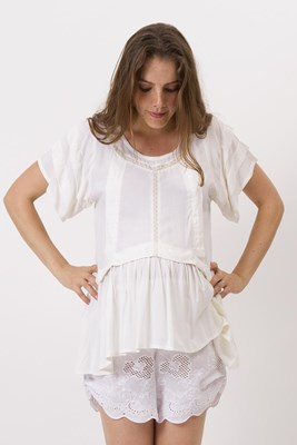 """""""Wild At Heart"""" maternity and nursing top - Cream"""