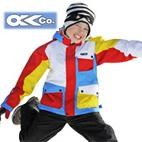 OKco Chopper Kids Ski Snowboard Jacket (multi colour) **CLEARANCE** Sizes 4-6-8