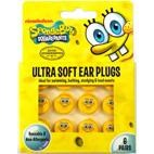 Moldable SpongeBob Square Pants Kids Ear Plugs for hearing protection, swimming, bathing - 6 PAIRS