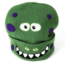 Kids Dinosaur Character Warm Winter Beanie (2-6yrs)