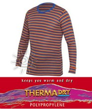 ThermaDry Kids Thermal Long Sleeve TOP (Rainbow Stripe)