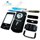 BLACK Nokia N95 8GB Mobile Phone Fascia / Cover / Full Housing Set with FREE keypad