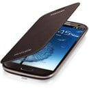 Original Samsung Galaxy S3 i9300 Flip Cover Case in Metalic Brown EFC-1G6FAECSTD