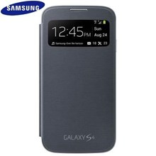 Genuine Samsung Galaxy S4 i9500 i9505 S-View Flip Cover Case in Nova Black EF-CI950BBEGWW