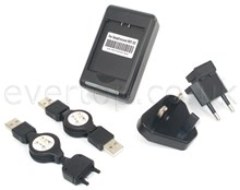 NEW Desktop Charger for Sony Ericsson Battery BST-33, includes USB Charger and USB Cable