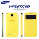 Genuine Samsung Galaxy S4 i9500 S-View Flip Cover Case in Yellow Colour EF-C1950BYEGWW