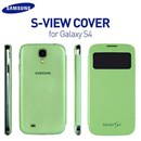 Genuine Samsung Galaxy S4 i9500 S-View Flip Cover Case in Green Colour EF-C1950BGEGWW