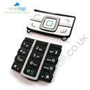Original Nokia 3G 6280 Replacement Keypad Buttons - Silver