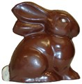 Large Crouching Chocolate Easter Bunny