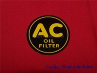 1937 - 1947 Cadillac AC Oil Filter Decal - 2""