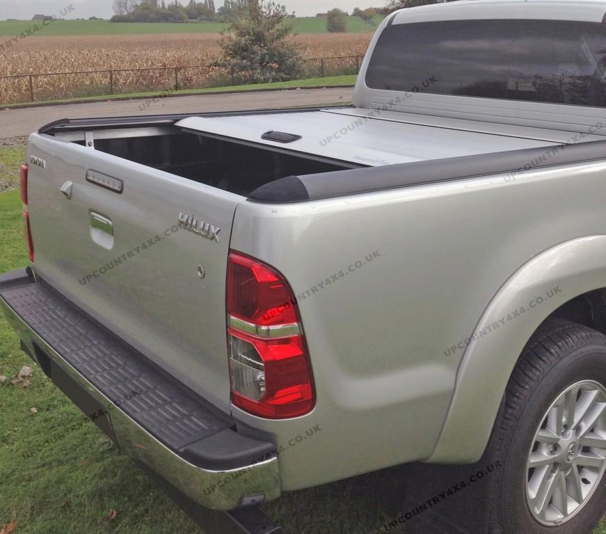 mountain top roll aluminium roller shutter tonneau cover toyota hilux double cab up country. Black Bedroom Furniture Sets. Home Design Ideas
