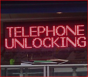 RED LED SCROLLING SIGN