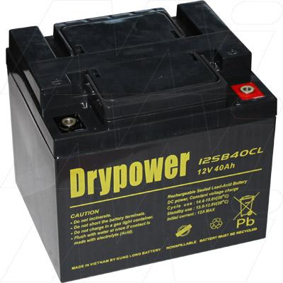 drypower 12v 40ah sealed lead acid battery. Black Bedroom Furniture Sets. Home Design Ideas