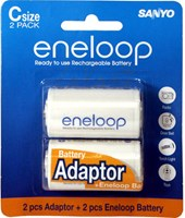 Sanyo Eneloop AA with C Size Jacket Cell