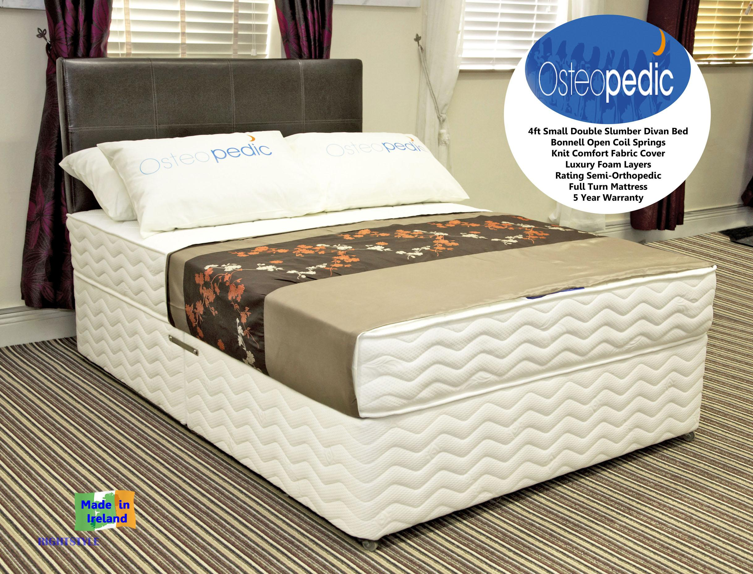 4ft small double divan slumber orthopedic range dublin for The range divan beds