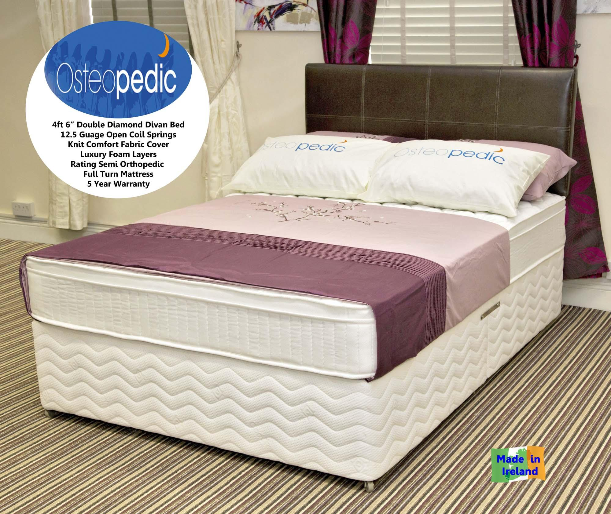4ft 6 39 double divan diamond orthopedic range dublin for 4ft 6 divan bed