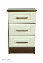Walnut Cream 3 Drawer Locker