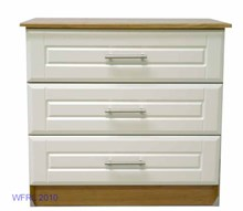 Oak Ivory 3 Drawer Chest