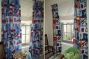 HALF PRICE SPECIAL OFFER Planes trains and automobiles retro design curtains