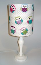 Owls fabric lampshade for ceiling or bedside lights
