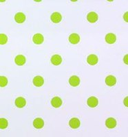 Polka dot nursery wallpaper lime green