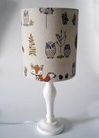 Woodland creatures fabric lampshade for ceiling or bedside lights