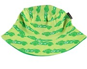 ON SALE Maxomorra Organic Sun hat - Green Race car